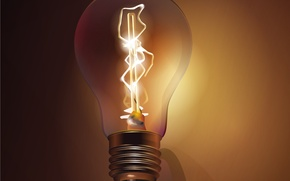 Wallpaper energy, vector, Light bulb