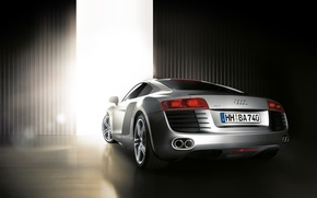 Wallpaper hangar, door, Audi