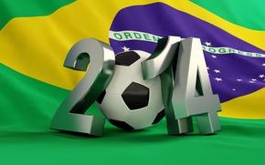 Wallpaper football, flag, World Cup, Brasil, FIFA, 2014