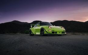 Picture Porsche, Classic, Green, Black, with, 300, 993, RWB, Satin, HRE