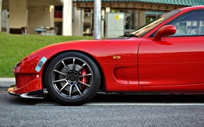Picture red, tuning, red, Mazda, tuning, the patch, Mazda, rx-7, patch