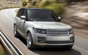 Picture road, Land Rover, Range Rover, the front, Land Rover, Range Rover