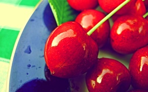 Picture macro, cherry, berries