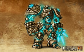 Picture art, art, Academy, heroes of might and magic 7, Might & Magic 7, Sandstone Golem