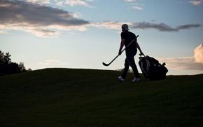 Picture sport, the evening, stick, hockey, Leonid Komarov, Leo Komarov