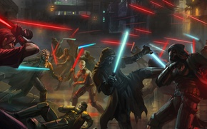 Picture weapons, war, star wars, swords, Sith, jadai