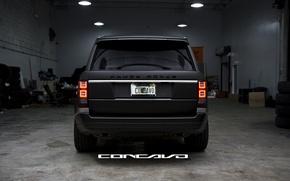 Picture tuning, Matt, Range Rover, black, Vogue, concave