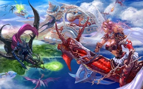 Picture Fantasy, Anime, Dragons In The Sky, Xiao Botong