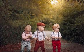 Wallpaper children, boys, team
