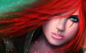 Picture red, lol, League of Legends, Katarina, The Sinister Blade