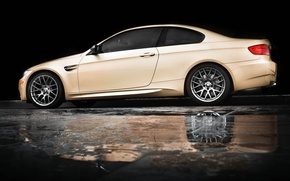 Picture reflection, rain, bmw, BMW, puddle, profile, beige, e92, beige
