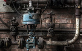 Picture pipe, background, valves