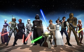 Picture Star wars, heroes, galaxy, STAR WARS