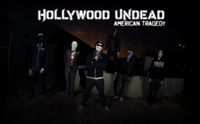 Wallpaper Hollywood, black, Undead, masks