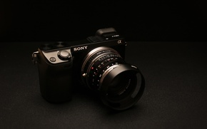 Picture background, camera, Sony, NEX-7 Golden Brown Edition