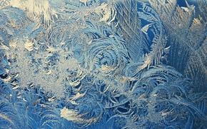 Picture winter, glass, macro, patterns, window, frost