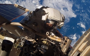Picture photo, astronaut, Earth, NASA, ISS, astronaut