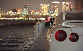 Picture nissan, white, gt-r