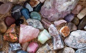 Picture a lot, pebbles, Gems