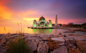 Picture architecture, malaysia, Masjid Selat Melaka
