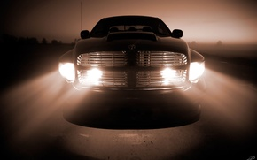 Wallpaper Dodge, Light, Lights, Grille