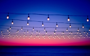 Picture the sky, background, lamp, wire