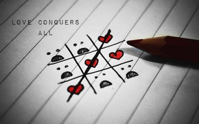 Wallpaper SMILEY, HEART, The GAME, MACRO, LEAF, LOVE, PENCIL, COMBINATION
