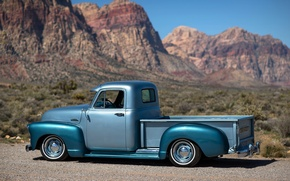 Picture nature, retro, background, Chevrolet, pickup, pickup