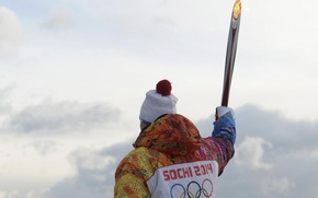Picture Olympics, athlete, Torch, Sochi 2014, Sochi 2014, winter Olympic games, torchbearer