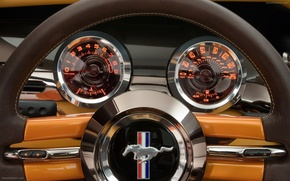 Picture devices, Speedometer, Mustang, Ford Mustang, The wheel