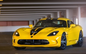 Picture Yellow, Dodge, Dodge, Parking, Viper, Yellow, GTS, Parking, Viper, SRT