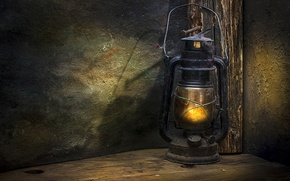 Picture retro, lamp, lantern, old, kerosene, pseudoeuops