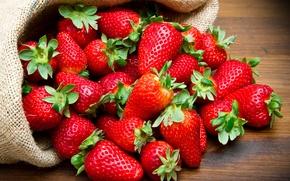 Wallpaper red, closeup, strawberry, bag, berry