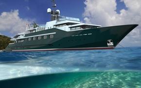 Picture luxury, yacht, Motor, HIGHLANDER