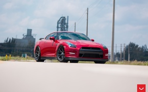 Picture GTR, Nissan, Vossen, Wheels, Graphite, VFS6