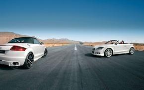 Picture Audi, The sky, Auto, Road, White, Machine, Convertible, Day, Two