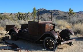 Picture auto, retro, Wallpaper, desert, wallpaper, cars, abandoned, rusty car