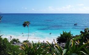 Wallpaper the ocean, Mexico, vacation, Тulum
