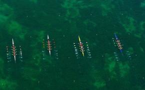 Wallpaper boats, Germany, Bayern, rowing, regatta, kayaks, Oberschleissheim