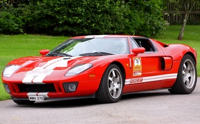 Picture Ford, Red, Stripes, MWH 370, GT