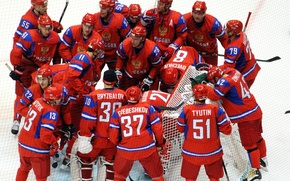 Picture ice, joy, victory, Russia, hockey, goal, championship, the world, champion, team Russia, russia, team, NHL, …