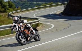 Picture speed, motorcycle, moto, KTM, 2013, 390 Duke, movement.
