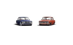 Picture retro, penny, classic, blue, jdm, tuning, retro, classic, Lada, orange, vaz, VAZ, lada, Lada, 2101, …