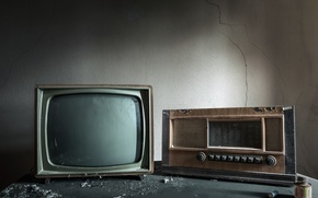 Picture background, radio, TV