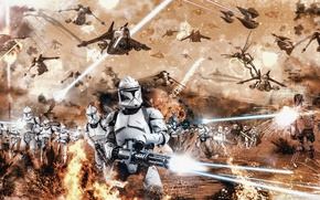 Picture Star Wars, Star wars, The Force Awakens, The force awakens, battle of geonosis