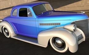 Picture auto, retro, car, 3d graphics