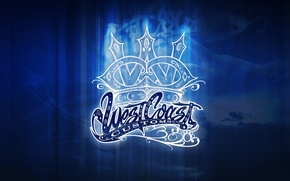 Picture background, the inscription, tuning, logo, emblem, tuning, West Coast Customs, West Coast Customs, WCC