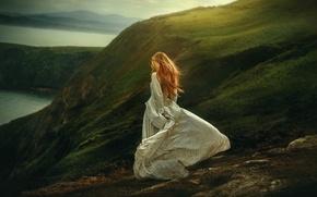 Picture girl, nature, dress, Highlands, TJ Drysdale