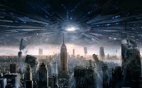 Picture USA, United States, New York, Day, Empire State Building, Sam, Aliens, General, Independence Day, 20th ...