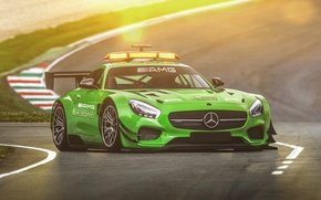 Picture green, mercedes, tuning, amg, safety car, hugo silva